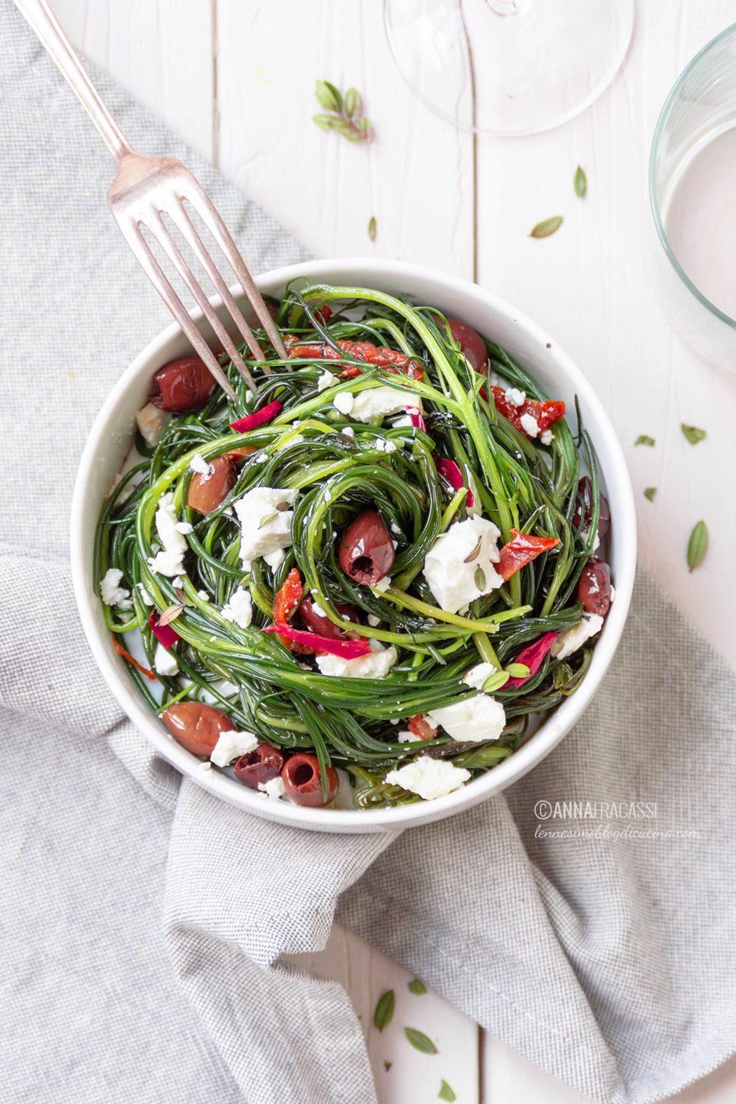 Contorno Di Agretti In Padella Con Feta E Olive L Ennesimo Blog Di Cucina