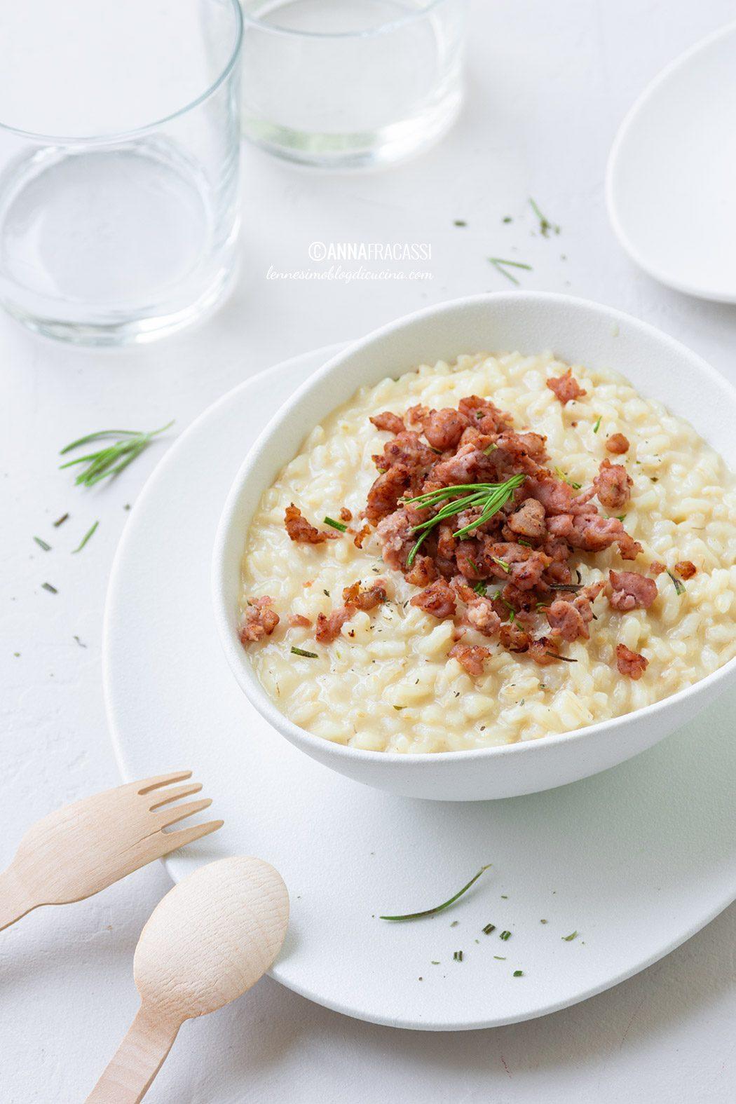 risotto con salsiccia e stracchino