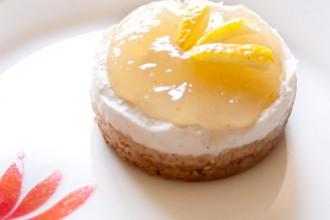 Cheesecake al limone monoporzionata