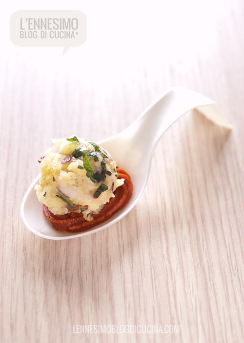Amuse-bouche di panzanella alla menta