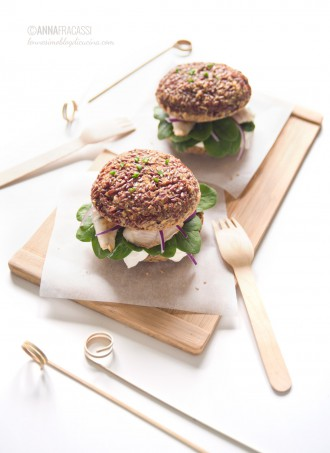 Rice burger con filetto di gallinella