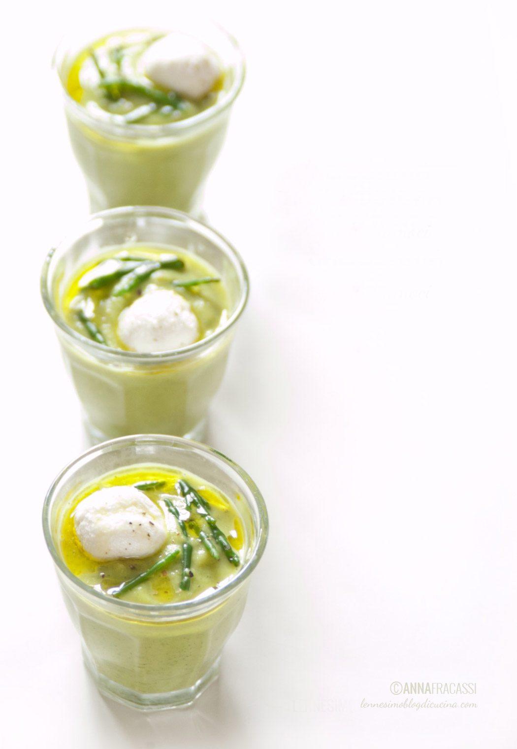 vellutata di zucchine e salicornia