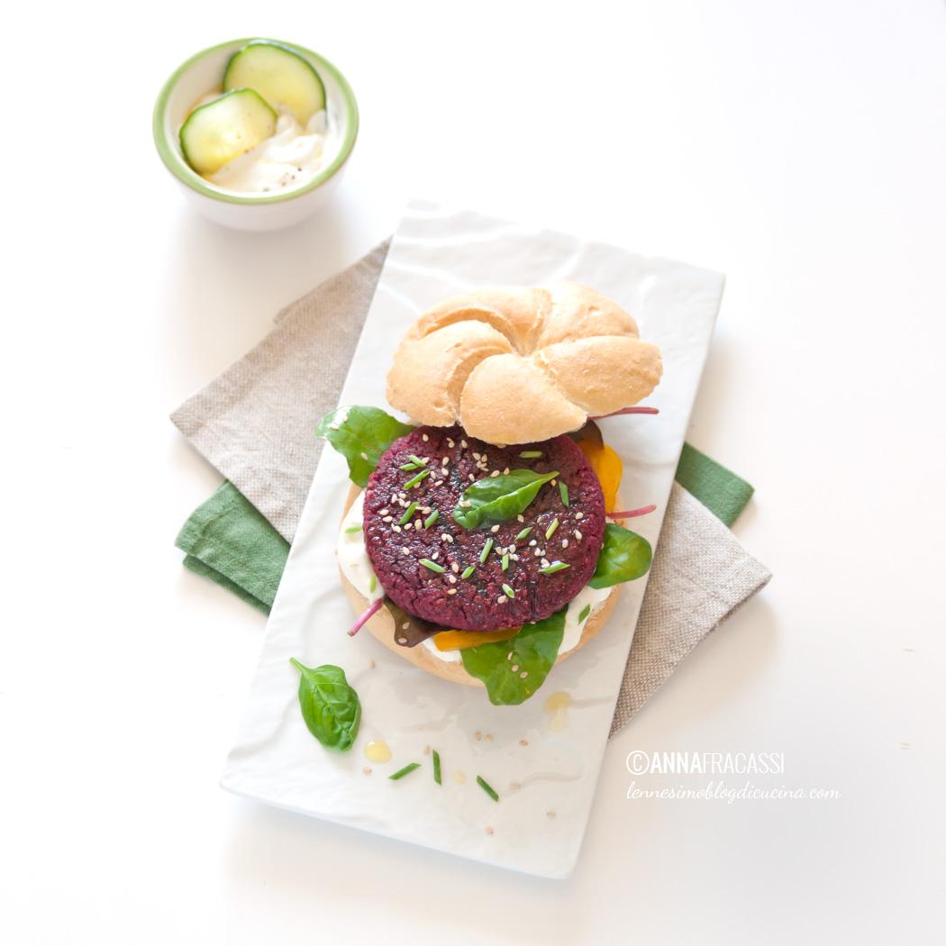 veggie burger di barbabietola