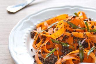 insalata marocchina di carote e lenticchie
