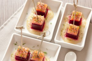 barbabietola salmone sedano rapa
