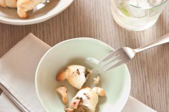 croissant porcini e trota salmonata