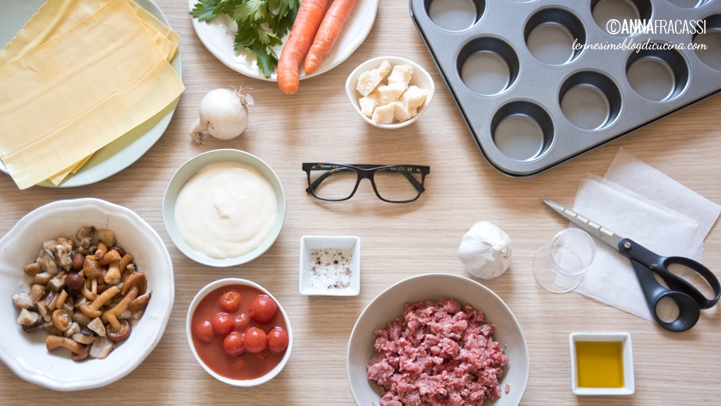 Lasagnette d'autunno - gli ingredienti