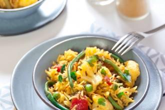 Pulao di verdure con riso Basmati