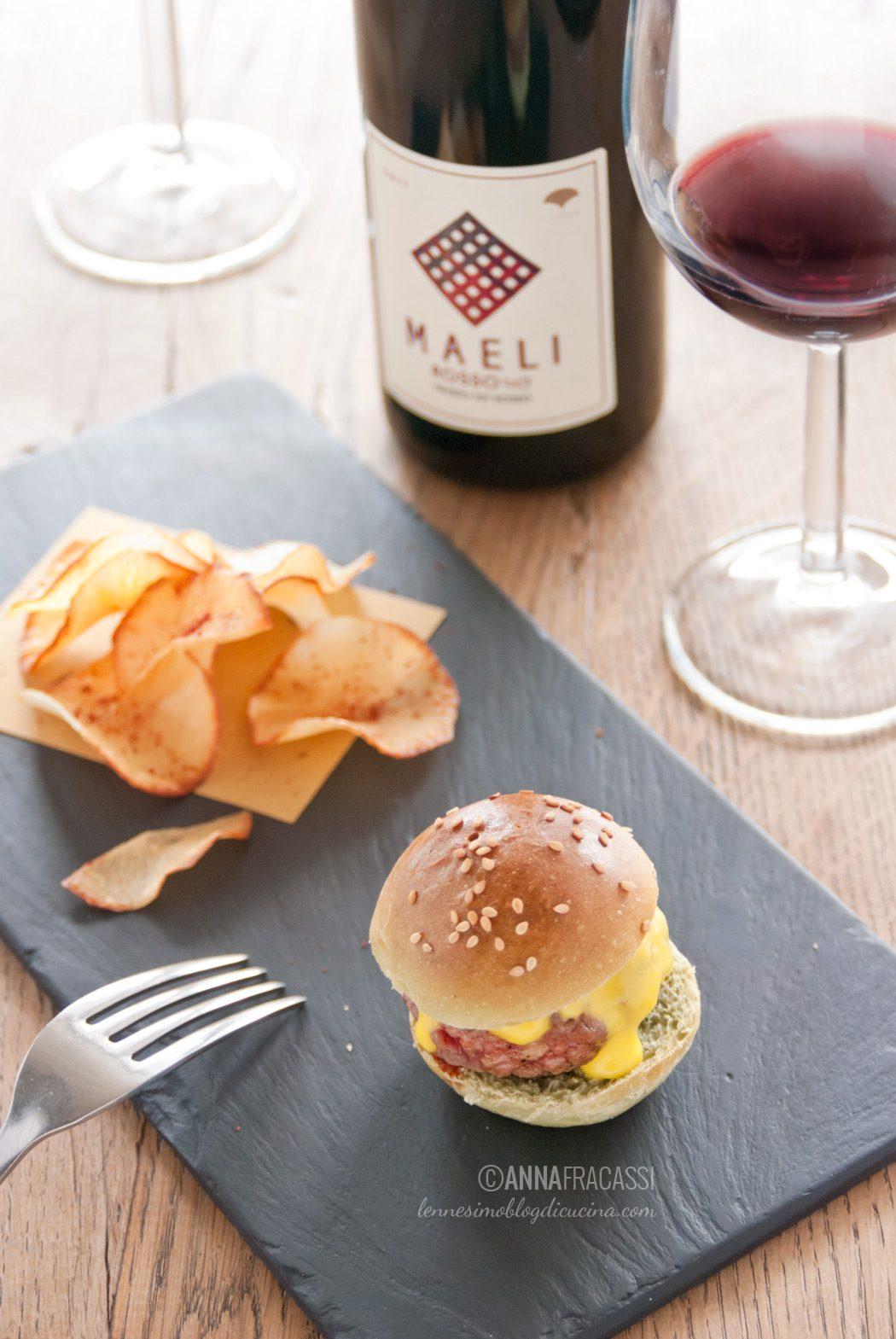 Mini burger di Fassona - vini Maeli - Mystic Burger