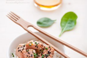 Filetti di salmone al Whisky con marinatura orientale