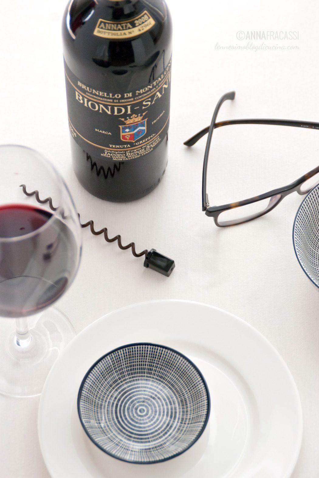 cena con il capo - Brunello di Montalcino
