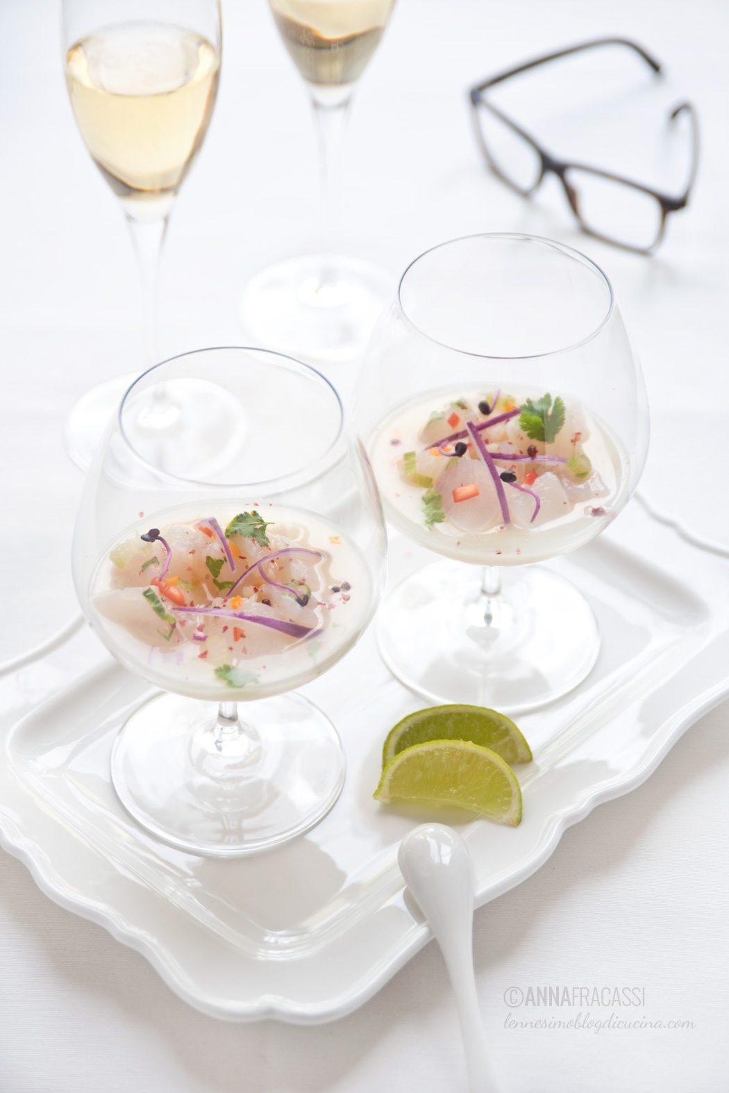 Ceviche di pesce bianco allo Champagne