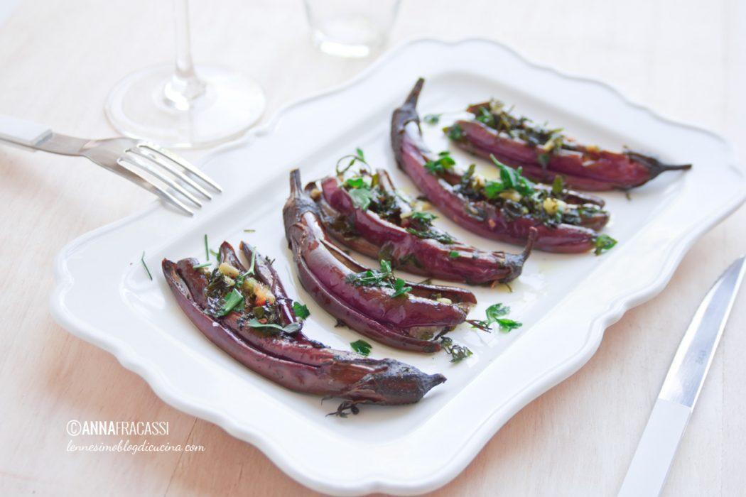 Melanzane perline all'aglio e zenzero
