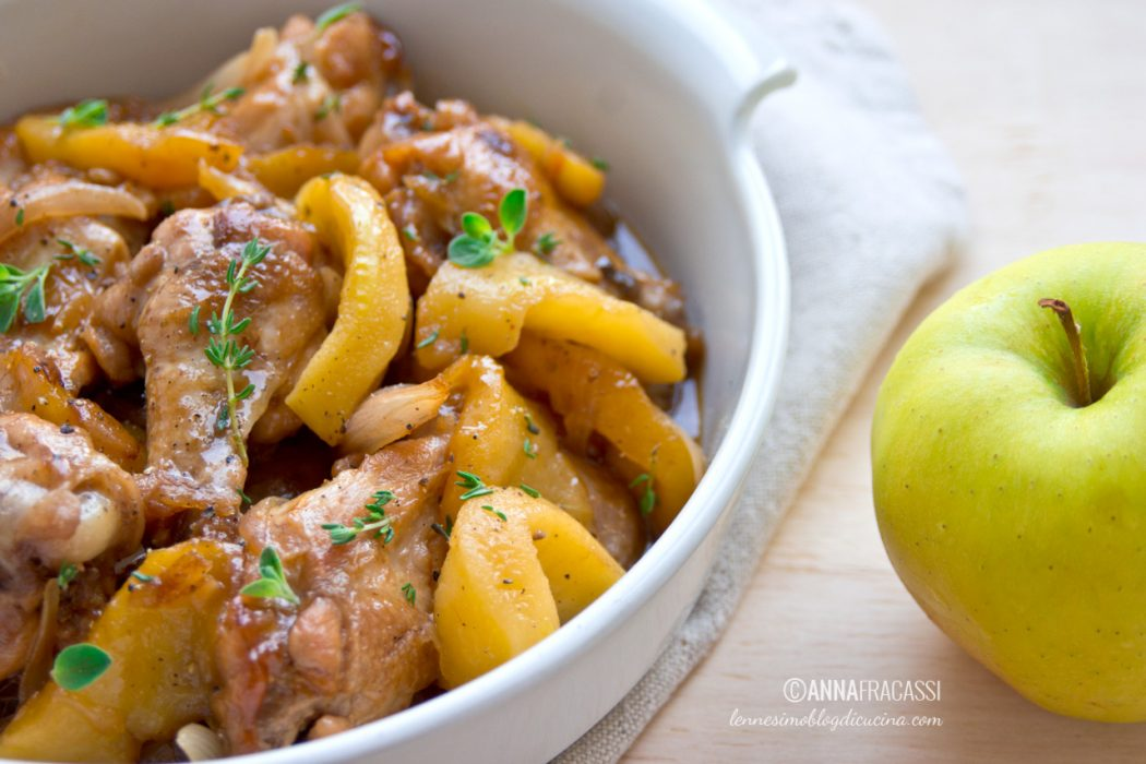 Ali di pollo alla bretone con sidro di mele e burro salato