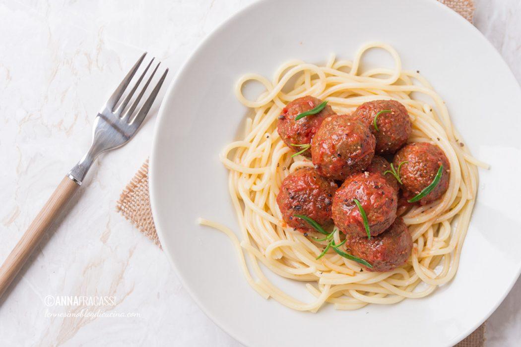 Gli spaghetti con le polpette (vegetariane)