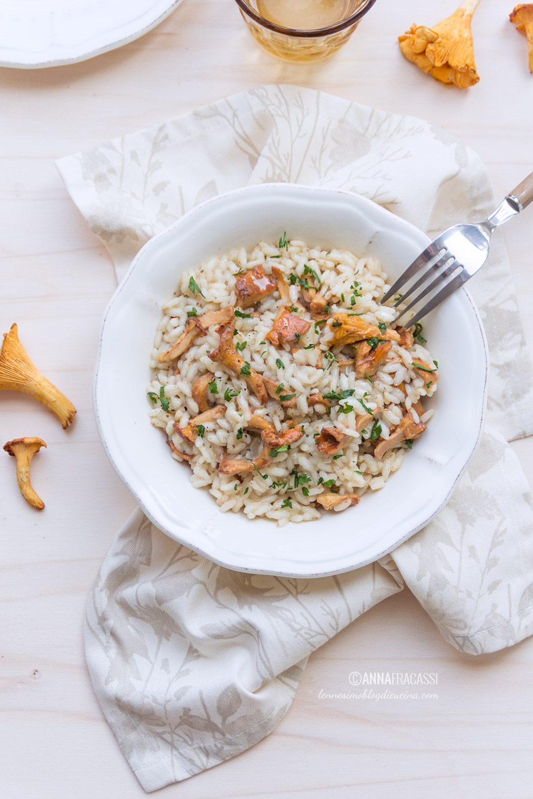 il mio risotto ai finferli