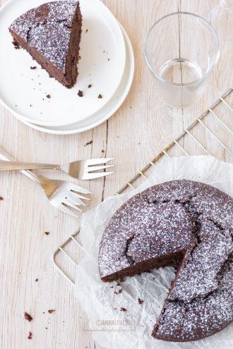 Torta al cioccolato fondente