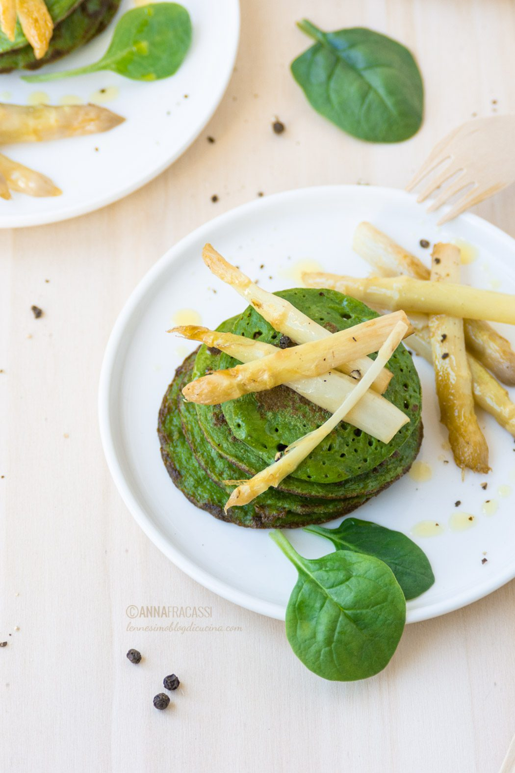 Pancake agli spinaci: ricetta light senza glutine