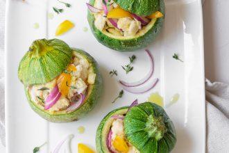 Zucchine ripiene di panzanella