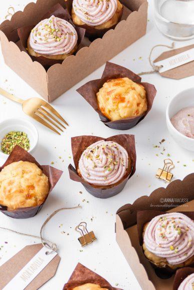 Muffin salati alla spuma di mortadella