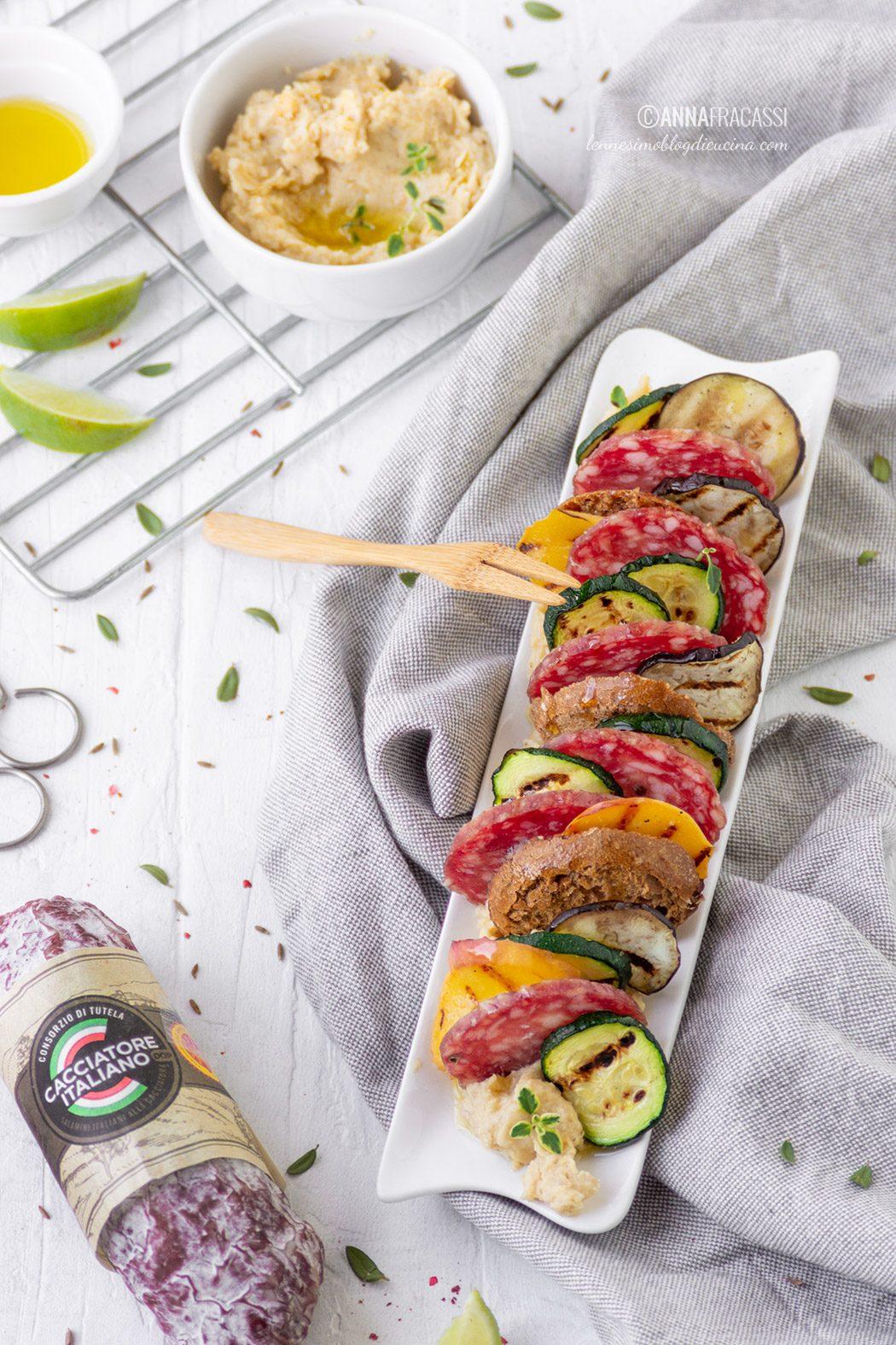 Millefoglie di verdure e Salame Cacciatore Italiano