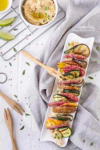 Millefoglie salata di verdure e Cacciatore Italiano
