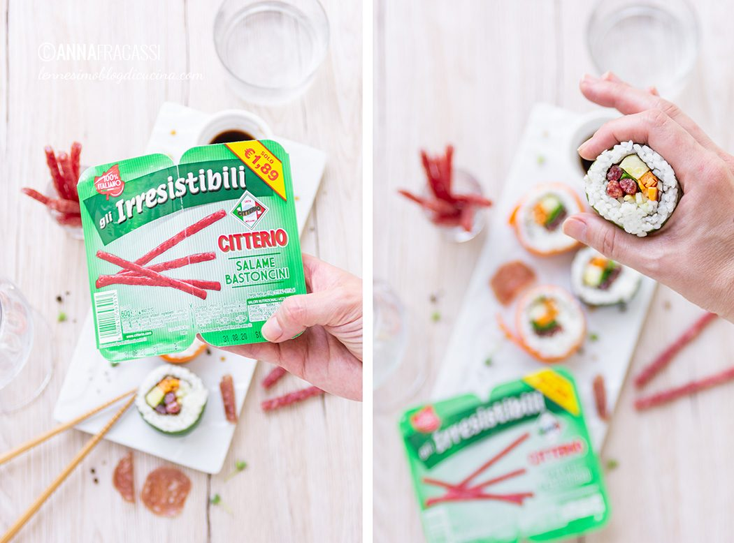 """Sushi di salame, per aperitivi """"irresistibili"""""""