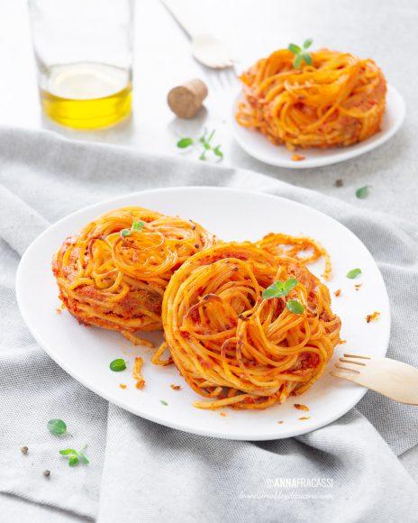 Frittata di spaghetti al pomodoro