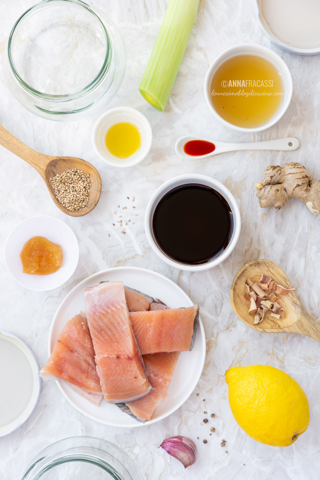gli ingredienti della ricetta