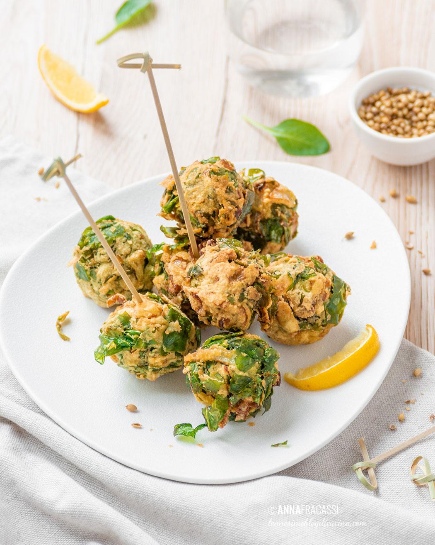 Palak Pakora: frittelle indiane agli spinaci