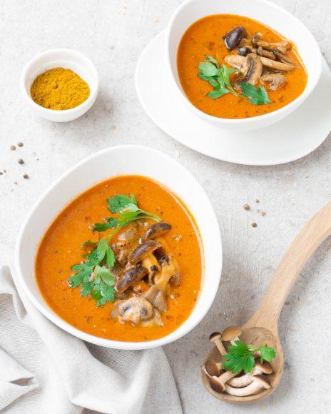 Curry vegetariano di funghi